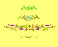 Rétro conception florale illustration stock
