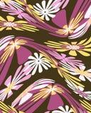 Rétro conception graphique florale déformée Photos libres de droits