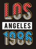 Rétro conception 1986, vecteur de typographie de Los Angeles Image libre de droits