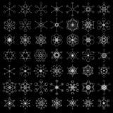 Rétro conceptions de flocon de neige Photo libre de droits