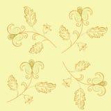 Rétro configuration florale Photographie stock libre de droits