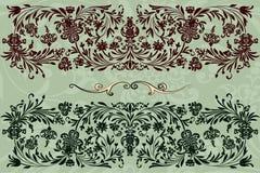 Rétro configuration florale illustration de vecteur