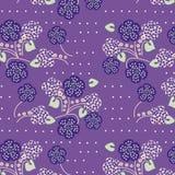 Rétro configuration florale illustration libre de droits