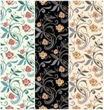 Rétro configurations florales Conception de vecteur de cru Images stock