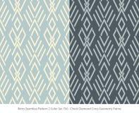 Rétro contrôle sans couture Diamond Cross Geomet d'ensemble de couleur du fond 2 illustration libre de droits