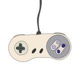 Rétro contrôleur de jeu vidéo d'isolement Image stock