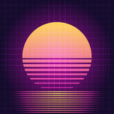 Rétro coucher du soleil de la science fiction Images stock