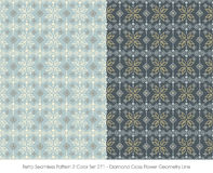 Rétro couleur sans couture Set_271 Diamond Cross Flower Geometry Line du modèle 2 illustration de vecteur