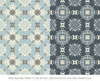 Rétro couleur sans couture Set_264 Diamond Round Geometry Kaleidoscope du modèle 2 illustration de vecteur