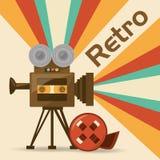 Rétro court-métrage de caméra vidéo Photographie stock libre de droits
