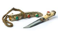 Rétro couteau de Yakutia (Thibet) Image stock