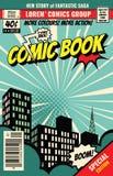 Rétro couverture de magazine Calibre de vecteur de bande dessinée de vintage illustration libre de droits