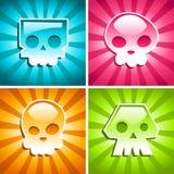 Rétro crânes colorés Photographie stock