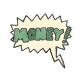 rétro cri de bande dessinée pour l'argent illustration stock
