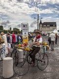 Rétro cycliste Photo libre de droits