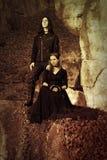 Rétro dénommer de couples gothiques Image libre de droits