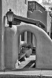 Rétro détail architecutral noir et blanc Photos libres de droits