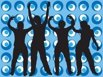 Rétro danseurs de type Image stock