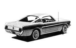 Rétro dessin de voiture de sport Photos libres de droits