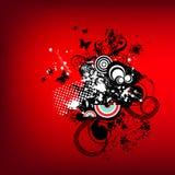 Rétro dessin rouge génial Images libres de droits