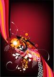 Rétro dessin rouge génial Image stock