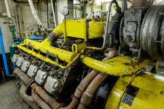 Rétro diesel de moteur de vaisseau spatial Images libres de droits