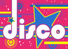 Rétro disco Images libres de droits