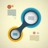 Rétro disposition de cercle d'Infographics Images stock
