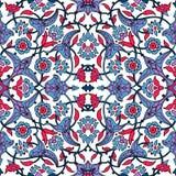 Rétro dos sans couture d'abrégé sur papier peint oriental stylisé de fleurs Illustration de Vecteur
