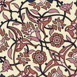 Rétro dos sans couture d'abrégé sur papier peint oriental stylisé de fleurs Photos stock
