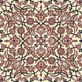 Rétro dos sans couture d'abrégé sur papier peint oriental stylisé de fleurs Photographie stock