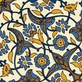 Rétro dos sans couture d'abrégé sur papier peint oriental stylisé de fleurs Photo stock