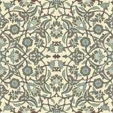 Rétro dos sans couture d'abrégé sur papier peint oriental stylisé de fleurs Photo libre de droits
