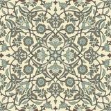Rétro dos sans couture d'abrégé sur papier peint oriental stylisé de fleurs Photos libres de droits