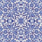 Rétro dos sans couture d'abrégé sur papier peint oriental stylisé de fleurs Illustration Stock