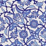Rétro dos sans couture d'abrégé sur papier peint oriental stylisé de fleurs Images libres de droits