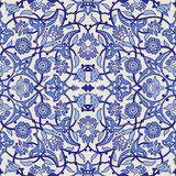 Rétro dos sans couture d'abrégé sur papier peint oriental stylisé de fleurs Image libre de droits