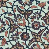 Rétro dos sans couture d'abrégé sur papier peint oriental stylisé de fleurs Image stock