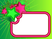 Rétro drapeau d'étoiles sur le fond vert Photo stock