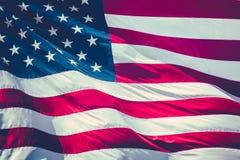 Rétro drapeau de bannière étoilée Photos stock