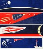 Rétro drapeaux de Web de l'espace Photographie stock