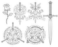 Rétro emblème Images libres de droits