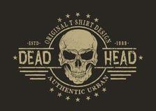 Rétro emblème avec le crâne Photographie stock libre de droits