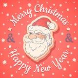 Rétro emblème avec Santa Claus illustration de vecteur