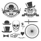 Rétro emblème de bandit de hippie Photo libre de droits