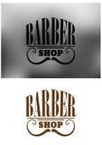 Rétro emblème de salon de coiffure avec la moustache Photo libre de droits