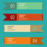 Rétro ensemble de bannière d'options d'infographics de vintage Image libre de droits
