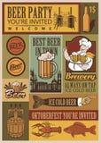 Rétro ensemble de bière Images libres de droits