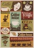 Rétro ensemble de café Photo libre de droits
