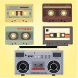 Rétro ensemble de cassette Photographie stock